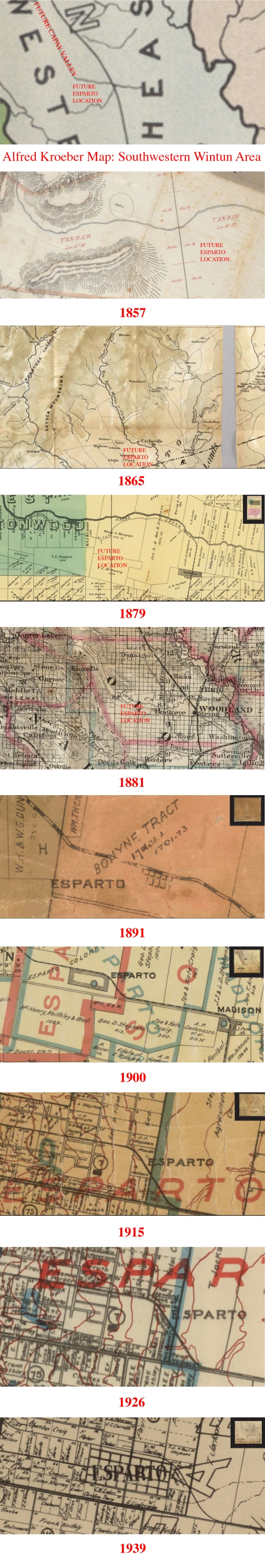A History of Esparto/Capay in Maps